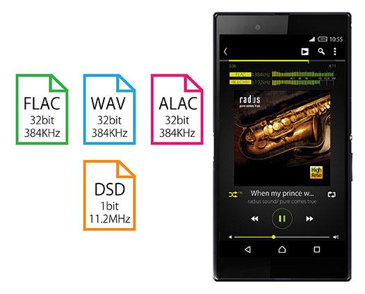 3.最大1bit/11.2MHzのDSD音源にも対応!